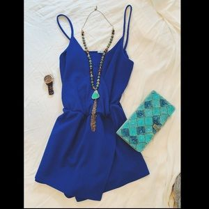 size S blue romper!! (Watch also for sale)